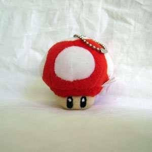 Super Mario Bro. RED Mushroom Plush Keychain Toys & Games