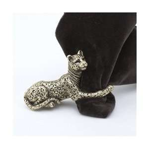 Objet Gold Plated Jaguar Napkin Rings Set/4  Kitchen