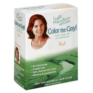 Light Mountain Natural Color the Gray Hair Color & Conditioner, Red