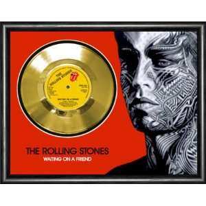 Rolling Stones Waiting On A Friend Framed Gold Record A3