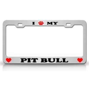 I PAW MY PIT BULL Dog Pet Animal High Quality STEEL /METAL