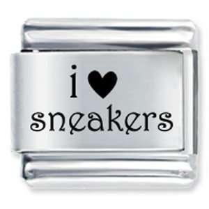 I Heart Sneakers & Love Italian Charm Bracelet Pugster Jewelry