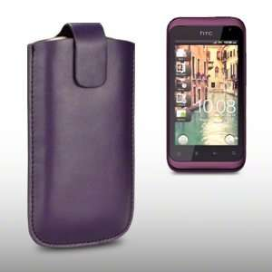 HTC RHYME PU LEATHER CASE, BY CELLAPOD CASES PURPLE