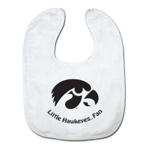 NCAA Iowa Hawkeyes White Snap Bib with Team Logo:  Sports