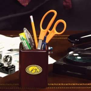 IOWA HAWKEYES Team Logo Medallion PENCIL HOLDER (3 3/8