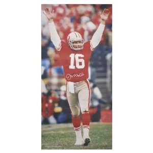 Joe Montana San Francisco 49ers Autographed 62x31 Canvas