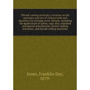 machines, and thread rolling machines, Franklin Day Jones Books