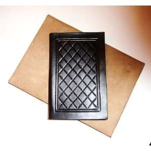 Luxury Handcrafted Black Leather Cover Case for Kindle