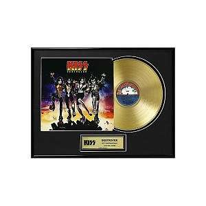 Kiss Framed Gold Record   Destroyer Toys & Games