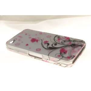 Apple iPhone 4 Hard Case Cover for Pink Vines Everything