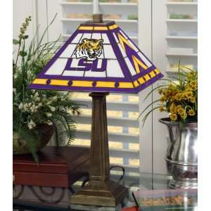 Louisana State University Stained Glass Mission Style Lamp