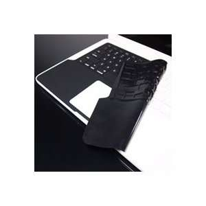 Black Keyboard Silicone Skin Cover with the Palm Rest Area for Macbook
