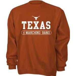 Texas Longhorns Dark Orange Marching Band Crewneck Sweatshirt