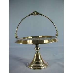 Rogers Meriden Silver Plate Cake Basket Kitchen & Dining