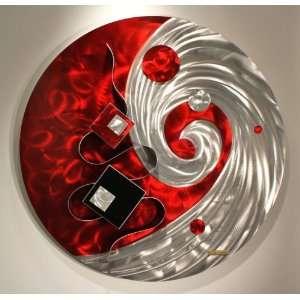 Modern Abstract Metal Wall Art Sculpture, Design by Alex