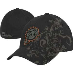 Miami Dolphins Reebok Charcoal Crown Structured Flex Hat