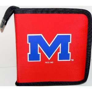 NCAA Licensed Ole Miss Rebels CD DVD Blu Ray Wallet Electronics