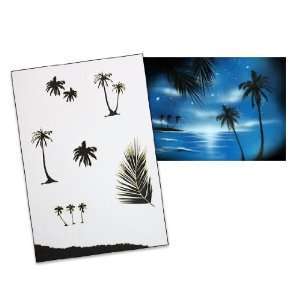 Step by Step Airbrush Stencil Template AS 036 L ca. 9,05