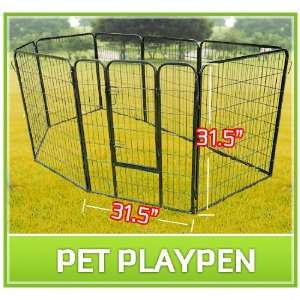 32 8 Panel Heavy Duty Pet Dog Portable Exercise Playpen