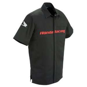 Rocket Mens Honda Racing Pit Shirt Black Large L 9071 2004 Automotive