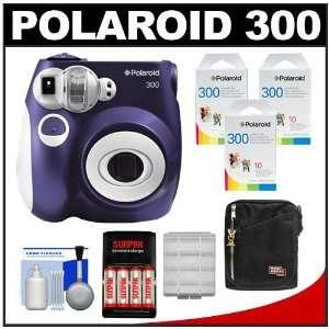 Polaroid PIC 300P Instant Film Analog Camera (Purple) with