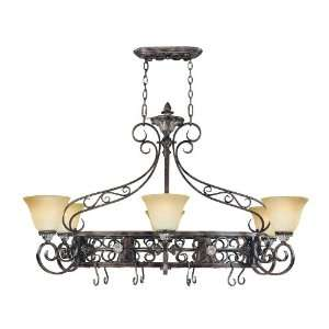 Savoy House 1 7227 6 238 Naples 8 Light Lighted Pot Rack