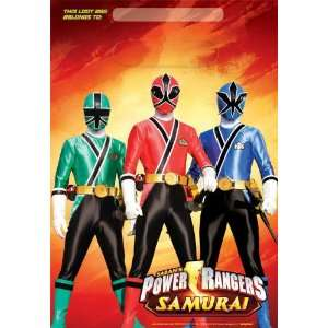 Lets Party By Amscan Power Rangers Samurai Treat Bags