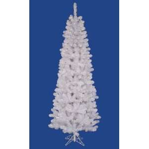 7.5 Pre Lit White Salem Artificial Pencil Christmas Tree