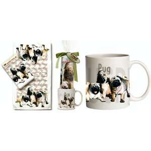 Pug Puppy Dog Breed Gift Set ~~ Includes 11 ounce COFFEE MUG and