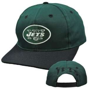 NFL New York Jets Green Black Vintage Retro Deadstock Snapback Twins