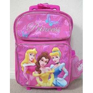 Disney Princess Full size Rolling Backpack  3 princess