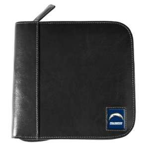 San Diego Chargers Black Square Leather CD Case  Sports