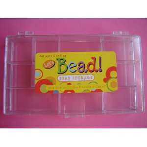 Two Clear Bead / Button Storage Arts, Crafts & Sewing