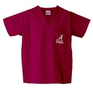 Alabama Crimson Tide NCAA Classic Scrub 1 Pocket Top (Crimson)