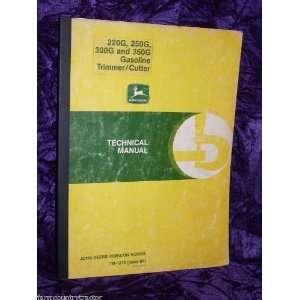 Deere 220G/250G/300G/350G Cutter OEM Service Manual John Deere Books