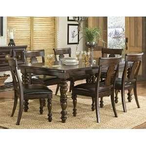 Classic Havana Leg Table + 4 Splat Back Side Chairs Furniture & Decor