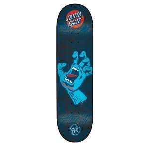 Santa Cruz Skate Deck Screaming Hand Black n Blue Powerply 31.5 Inch x
