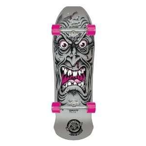 SANTA CRUZ Roskopp Face Silver Skateboard 9.5 x 31