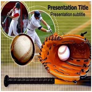 Powerpoint Templates   Baseball Powerpoint (PPT) Backgrounds Slides