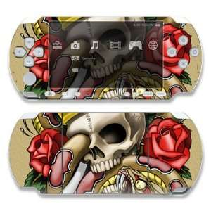 Sony PSP Slim 3000 Decal Skin   Traditional Tattoo 1