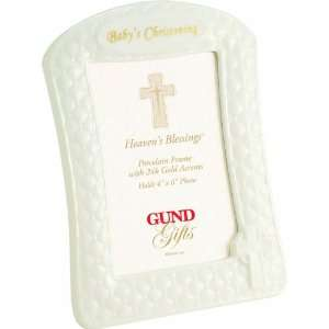 Heavens Blessings BABYS CHRISTENING frame by Gund   4x6 Baby