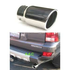 Stainless steel exhaust tip w/ polish finish   Toyota