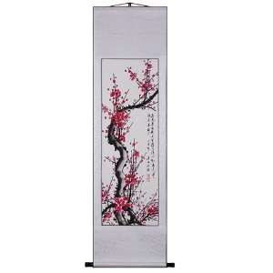 Blossom Poetry Scroll Wall Art Painting
