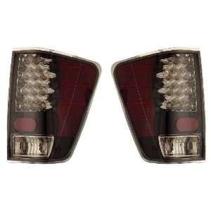 NISSAN TITAN 04 09 LED TAIL LIGHT BLACK NEW