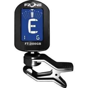 Fzone FT 2000GB Clip Guitar/Bass/Violin Tuner Black Electronics
