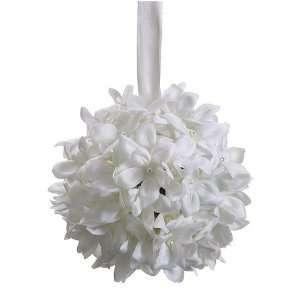 Silk Stephanotis Kissing Flower Ball  White (case of 12)
