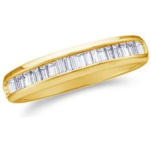 Size 4.5   10K Yellow Gold Diamond Wedding Band Ring   w