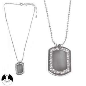 SG Paris Necklace 40cm+Ext Rhodium Crystal Lead Free Transparent
