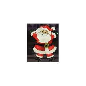 Shimmering Santa Claus Christmas Window Silhouette De