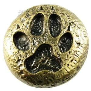 681386, Knob, Wolf Track Knob   Antique Brass,: Home Improvement
